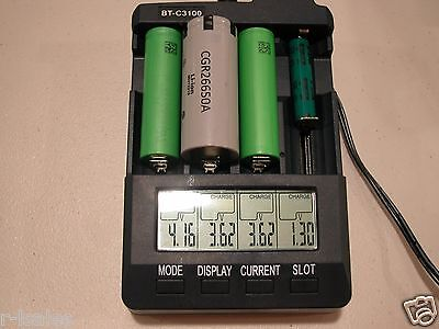 BT-C3100 Li-ion 18650 Battery Analyzer Tester Refresh Charger Discharge NiMH for sale  Salt Lake City