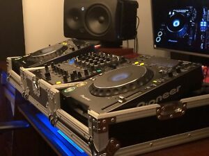 Complete Pioneer DJ Setup - Turntables, Mixer and Cases