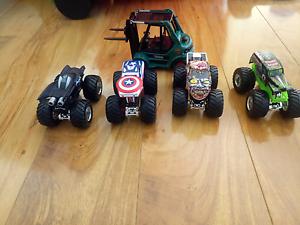 Hot wheels Monster trucks, car garage, super heroes figurines etc Seville Grove Armadale Area Preview