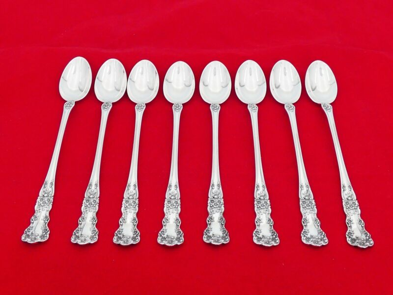 Set of 8 Gorham Sterling Silver Buttercup Iced Tea Spoons ZE-10