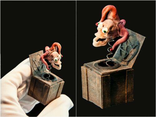 Jack in the box 1:12 scale. miniature skeleton. death skull evil 1/12 dollhouse