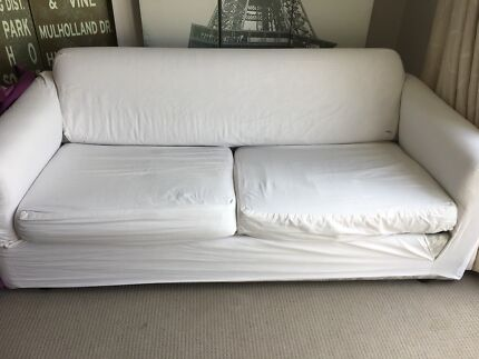White cover sofa bed