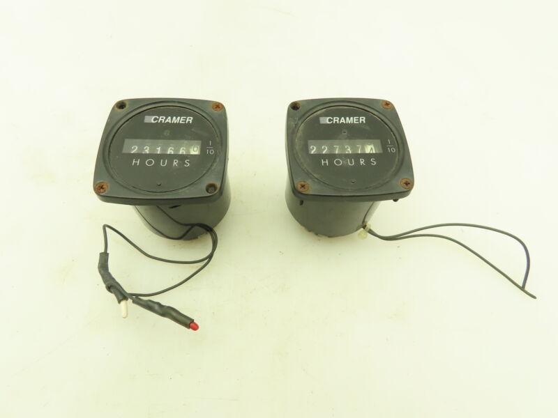 Cramer 635K-AA Hour Meter Timer Gauge 1/10 115V Input Lot of 2