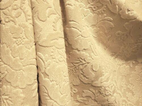 6Y RARE VINTAGE KRAVET LEE JOFA GRENADA CREAM FLORAL LUXURIOUS CUT VELVET FABRIC