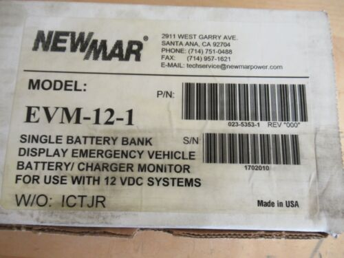 Newmar EVM-12-1 Emergency Vehicle Battery/Charger Monitor