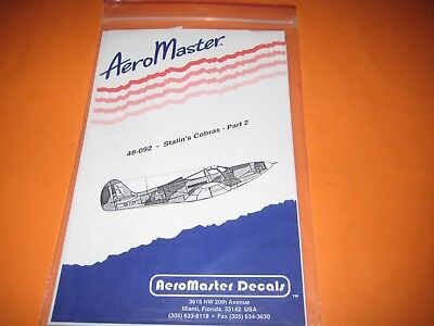 AEROMASTER DECALS SOVIET P-39 1/48 AMD48092