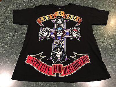 VINTAGE Alstyle Guns & Roses Appetite For Destruction T-Shirt Size Small *SHRUNK