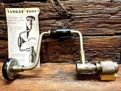 """Stanley North Brothers Bell System Yankee  2101A 10"""" Hand Brace   Exc. Condition"""