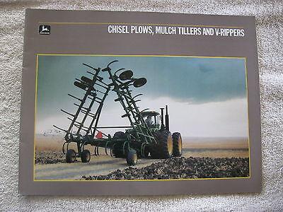 1987 John Deere Chisel Plows Mulch Tillers V-rippers 24pg Brochure