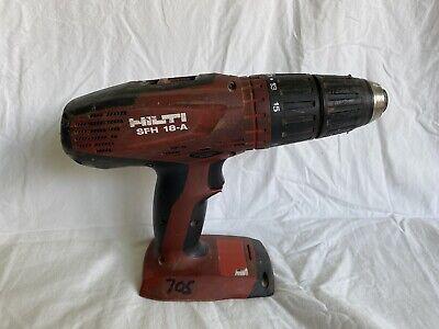 Hilti 18v Cordless Hammer Drill Driver Sfh 18-a