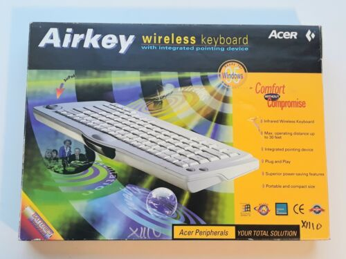 airkey wireless keyboard integrated pointing device