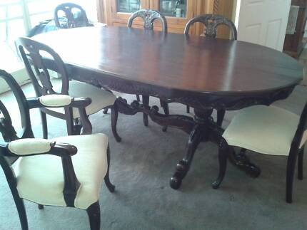 Reproduction Pedestal Dining table and 6 chairs Broken Hill Central Broken Hill Area Preview