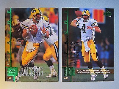 Lot Of  2  1998 Packers Upper Deck Shopko Green  1  51 Brett Favre Gd