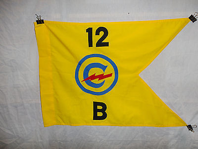 flag863 Post WW 2 US Army Constabulary Guide on 12th Regiment B Company W9A