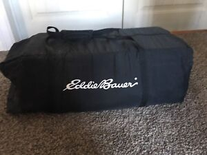 Eddie Bauer top of the line play pen with accessories