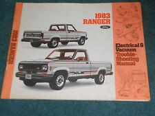 1983 FORD RANGER TRUCK / WIRING & VACUUM DIAGRAM SHOP ...