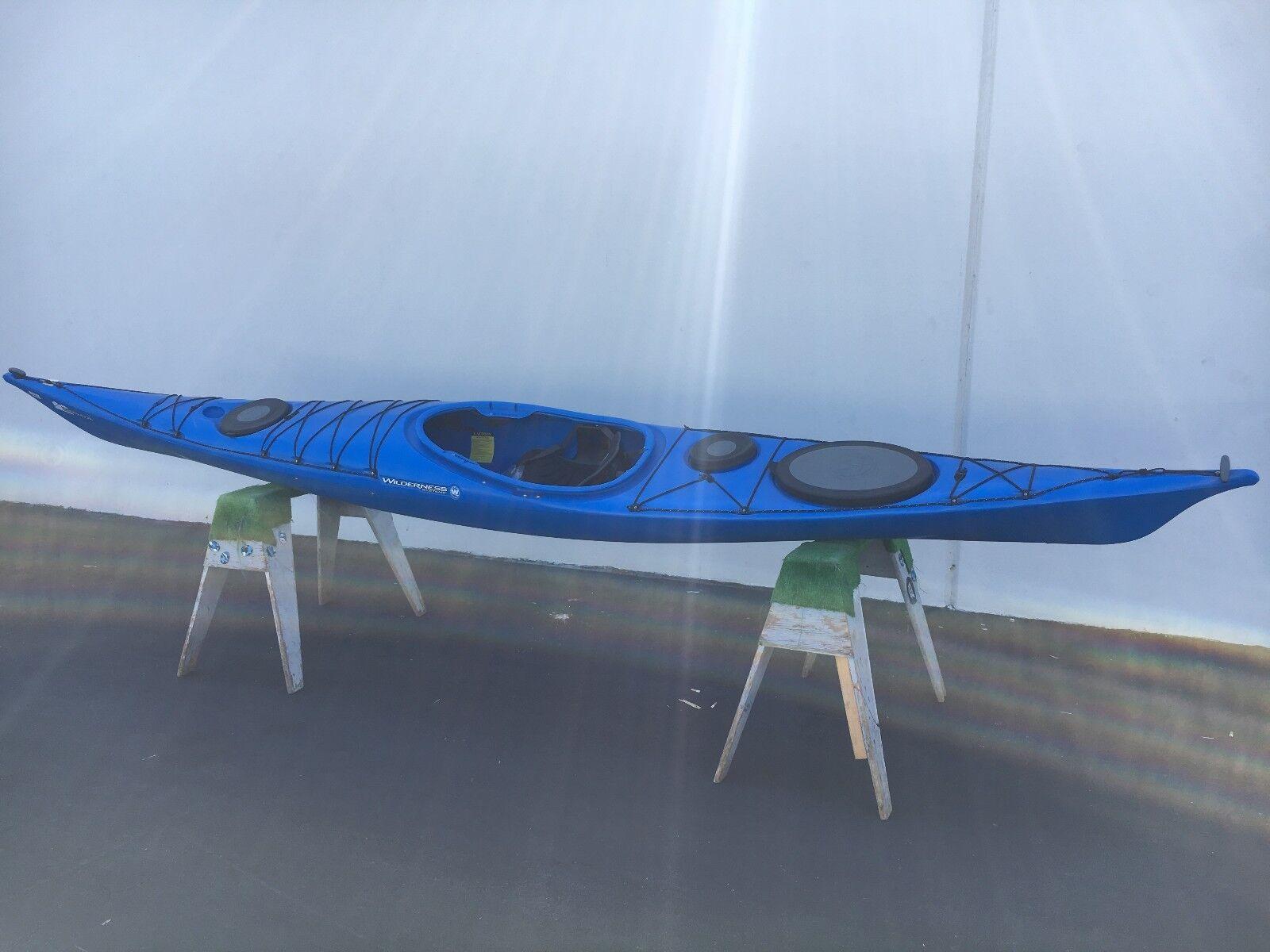 zephyr 16 blue touring sea kayak