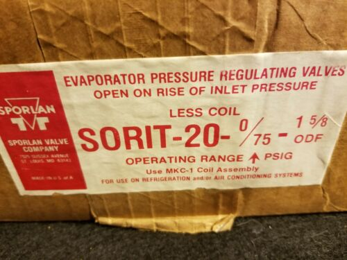 Sporlan Sorit-20 Evaporator Pressure Regulating Valve (NEW)