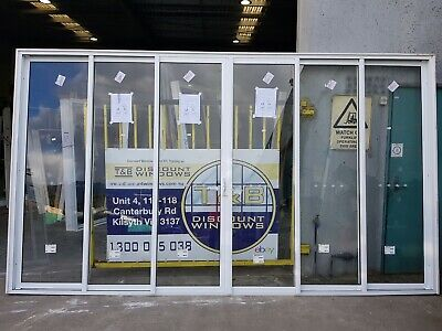 Aluminium Sliding Door 2420H x 4240W (Item 4535) White