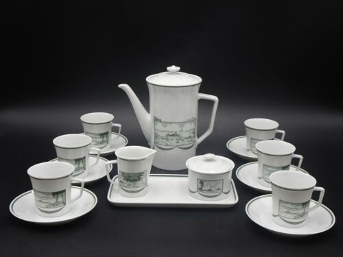 "RARE VINTAGE FURSTENBERG GERMANY ""WOLFSBURG"" 16 PC. DEMITASSE COFFEE SET ~ MINT"