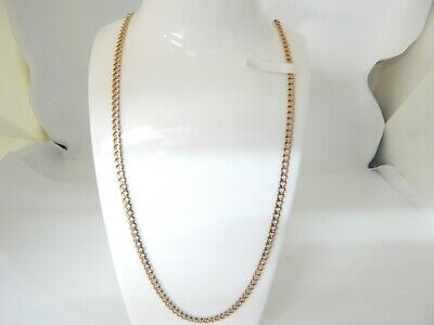 """Hallmarked 9 ct Gold Italian Curb Chain 20.5"""" in Length.D"""