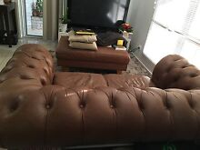 BAY LEATHER REPUBLIC CHESTERFIELD LEATHER SOFA Kippa-ring Redcliffe Area Preview