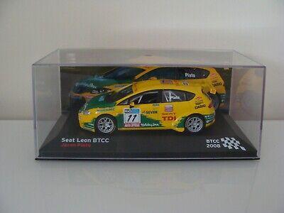 IXO 1/43 Seat Leon BTCC 2008 British Touring Car Jason Plato