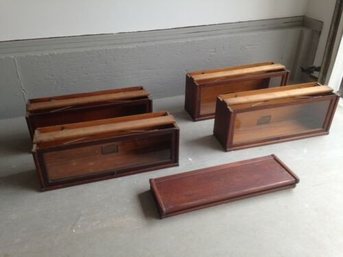 Antique 4-Stack Globe Wernicke Oak Barrister Lawyers Bookcase - 5 pieces (#1)