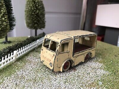 cream Electric Dairy Van 'Express' 30v Dinky #490 - Reproduction Box by DRRB