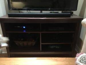 TV Cabinet, dark wood