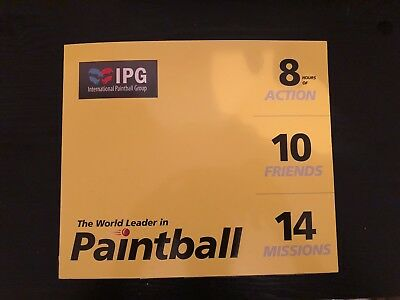 Paintball Tickets 20x NO EXPIRY DATE!!