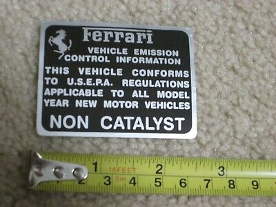 OEM Ferrari Dino 308 GT/4 308 GTS GTB Original Non Catalyst Decal Sticker
