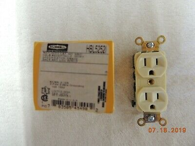 HUBBELL SF 3925 Duplex Receptacle Cover Solid Brass