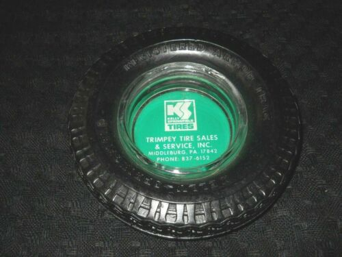 Vintage Kelly Springfield Tires Ashtray, Registered Armor Trac Tire