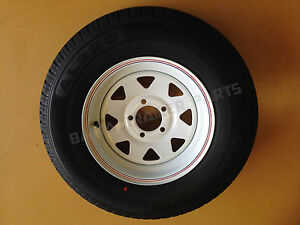 SUNRAYSIA-WHITE-14-Holden-HT-WITH-195-LT-TYRE-Trailer-Parts