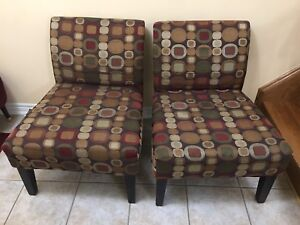 Accent chairs in excellent condition