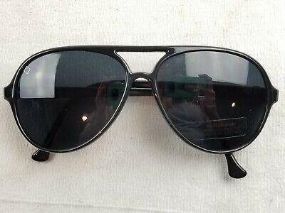 I Ski - Black Diamond Sunglasses 1980s aviator Black Frames Japan 70009 (Vintage Ski Sunglasses)