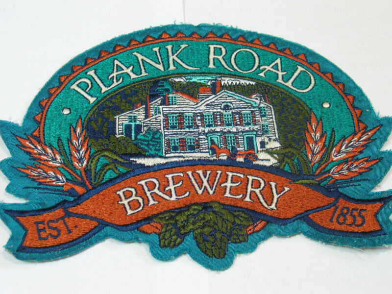 """Plank Road Brewery Patch ,  Lg 10""""  Jacket Patch"""