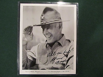 Harry Morgan Hand Signed Photo From Role On Mash