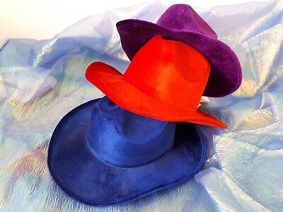 y Hut lila blau rot Kostüm Faschingshut Western 129189713 (Blaue Cowboy-hut)