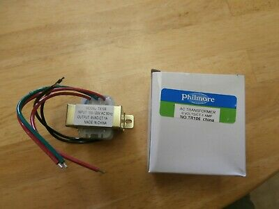 Tr106 Philmore 120vac6v Ct At 1000ma Tube Filament Transformer 3v-0-3vnew