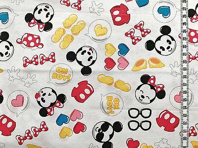e Kids - weiß - Disney - Baumwollstoff - Kinderstoff (Mickey Mouse Kid)