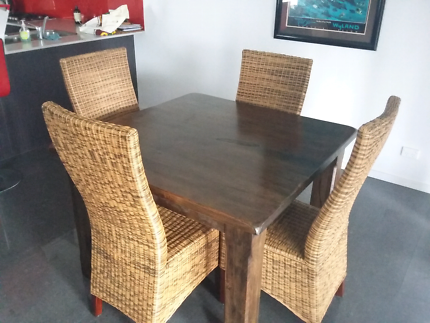 Vast Timber Dining Table and Chairs
