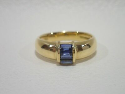 TIFFANY & CO. 18k yellow gold ring with sapphire size 5.5