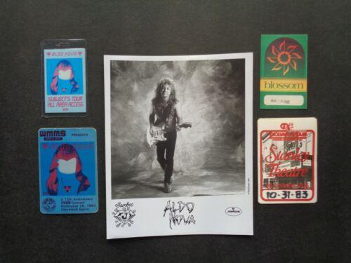 ALDO NOVA,B/W Promo Photo,4 Original Backstage passes