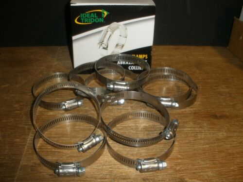 """(Qty.10) Ideal Tridon 5744 Worm Gear Hose Clamp 3-1/4"""" 301 Stainless Steel USA"""