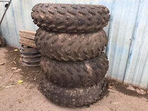 Wheels and tires from a 2014 grizzly