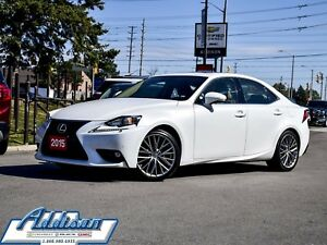 2015 Lexus IS 250 Premium Leather Navi Sunroof AWD