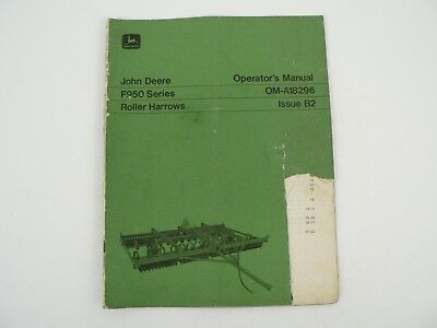 John Deere Owners Manual F950 Roller Harrows Maintenance Schedule Trouble Shoot