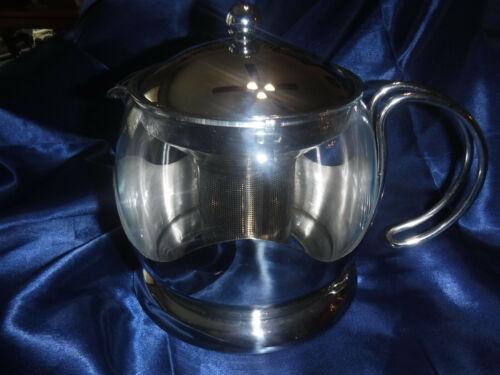 PYREX TEA POT WITH CHROME